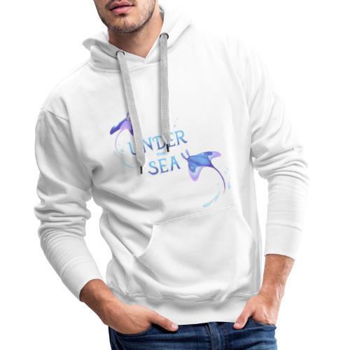 Under the Sea Mantas - Sweat-shirt à capuche Premium pour hommes