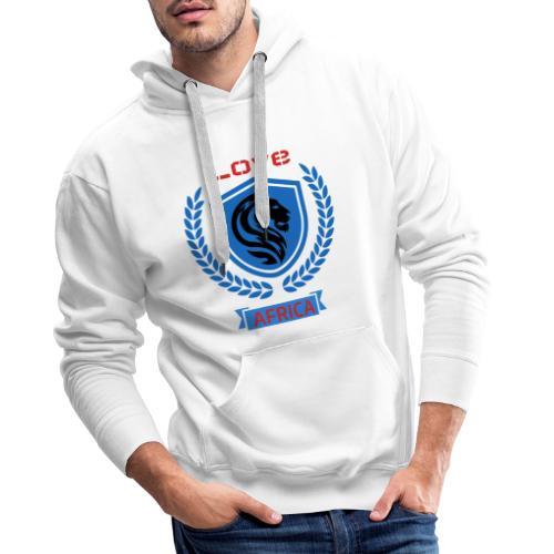 love bleu - Sweat-shirt à capuche Premium pour hommes