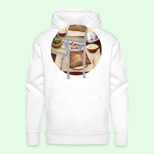 Flavors of Crepes - Sweat-shirt à capuche Premium pour hommes