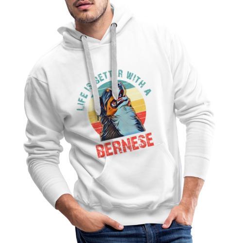 Bernese mountain dog - Mannen Premium hoodie