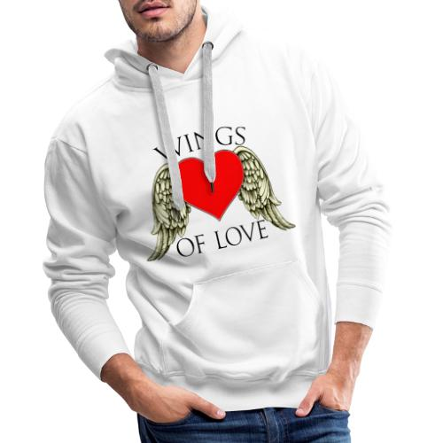 wings of love - Men's Premium Hoodie