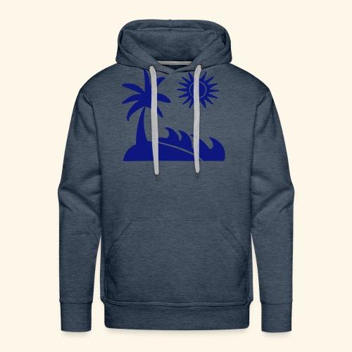Palme, Meer, Sonne, Strand - Männer Premium Hoodie