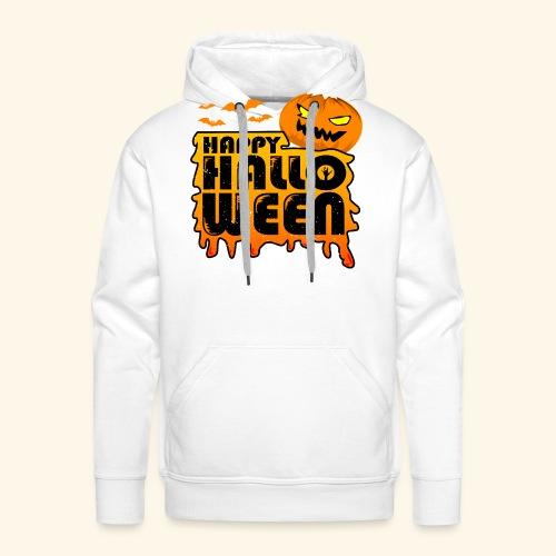schauriger Kürbis Happy Halloween - Männer Premium Hoodie