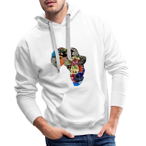 Afrique en Wax (Impression) - Sweat-shirt à capuche Premium pour hommes