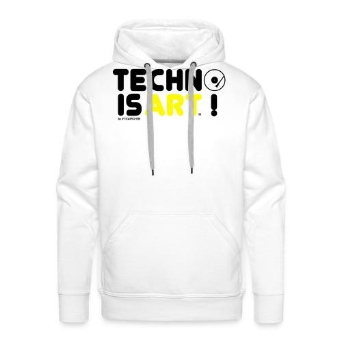 Techno is Art by 69 Starfighter Black Yellow - Mannen Premium hoodie
