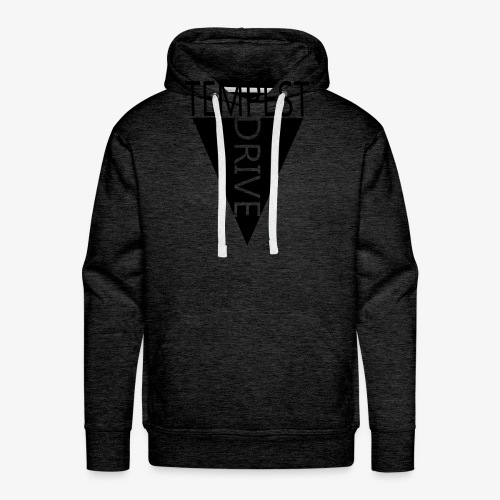 Komprimeret logo - Herre Premium hættetrøje