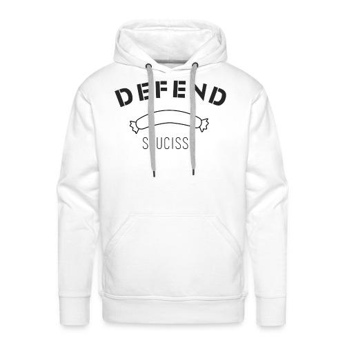 DEFEND SAUCISSE | noir - Sweat-shirt à capuche Premium pour hommes