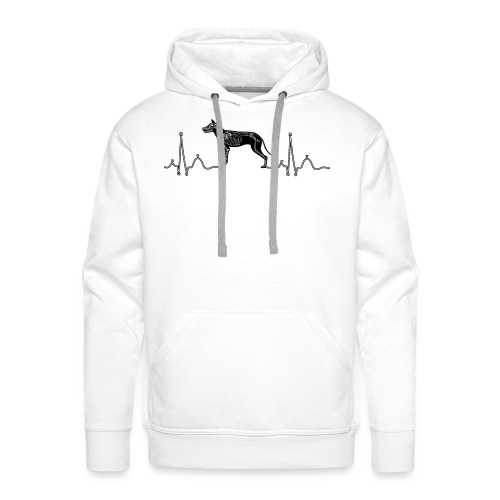 ECG met hond - Mannen Premium hoodie