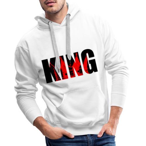gamme - KING ROUGE - Sweat-shirt à capuche Premium pour hommes