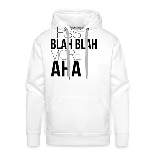 less blah blah - Sweat-shirt à capuche Premium pour hommes