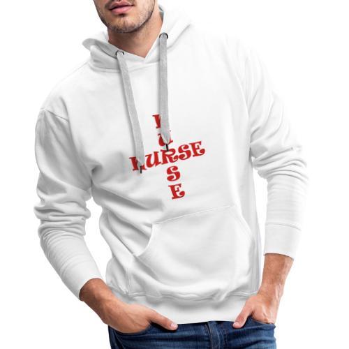 Nurse_4 - Sweat-shirt à capuche Premium pour hommes