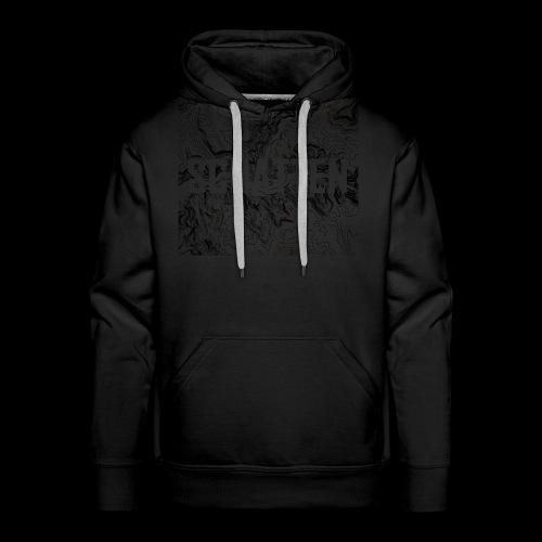 Hoehenlinien schwarz Schatten - Männer Premium Hoodie