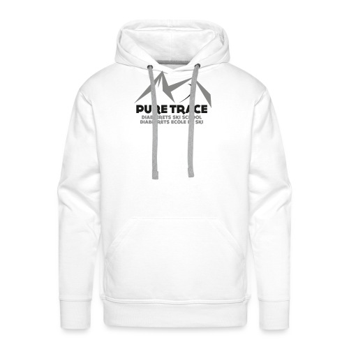 logo-PURE_TRACE-black - Sweat-shirt à capuche Premium pour hommes
