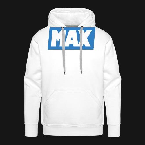 Max Blue/White - Sweat-shirt à capuche Premium pour hommes