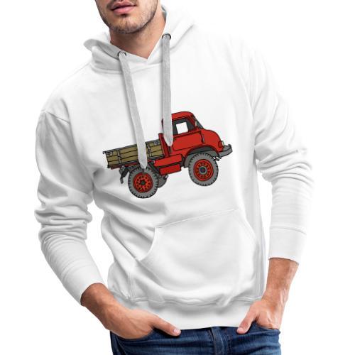 Roter Lastwagen, LKW, Laster - Männer Premium Hoodie