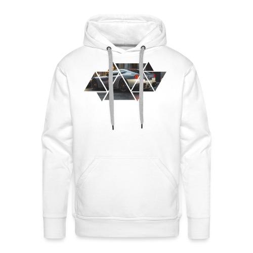 Triangles Black - Felpa con cappuccio premium da uomo
