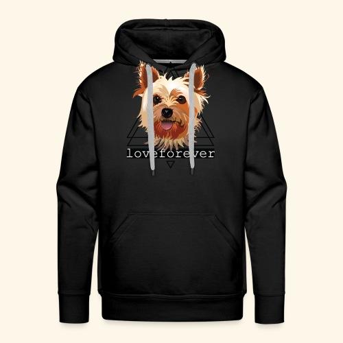 YORKIE LOVE FOREVER - Sudadera con capucha premium para hombre