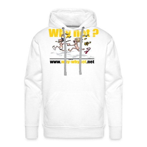 Whynot-undress from stres - Men's Premium Hoodie