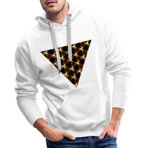 Triangle kaleidoscopique - Sweat-shirt à capuche Premium pour hommes