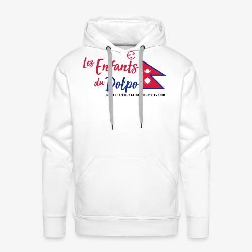 Les Enfants du Doplo - Grand Logo Centré - Sweat-shirt à capuche Premium pour hommes
