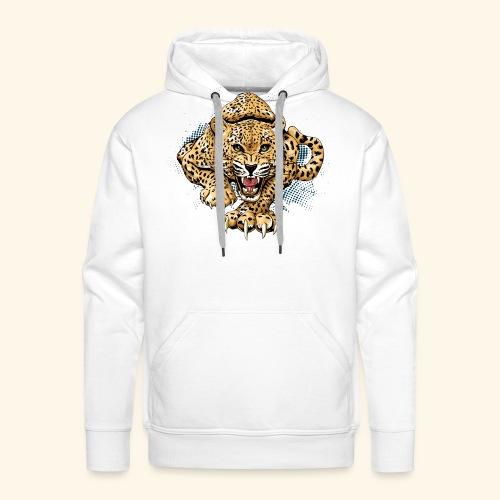 Leopardo KutuXa - Sudadera con capucha premium para hombre
