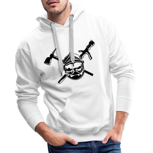 casque_pompier_hache et lance - Sweat-shirt à capuche Premium pour hommes
