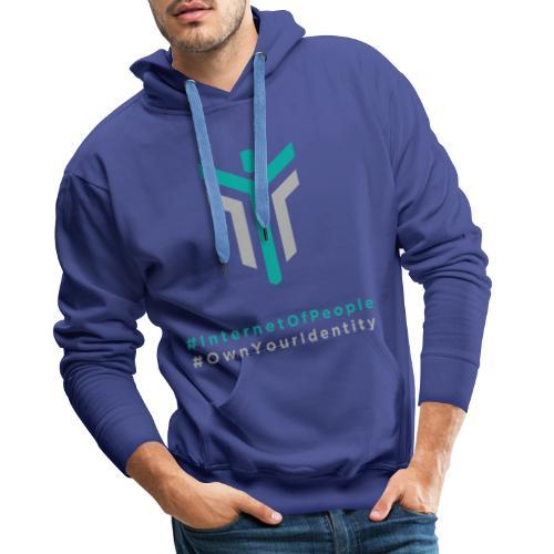 #InternetOfPeople #OwnYourIdentity - Men's Premium Hoodie