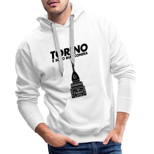 Torino è Bianconera - Felpa con cappuccio premium da uomo