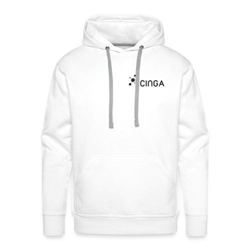 Icinga Icon Logo black small right - Men's Premium Hoodie