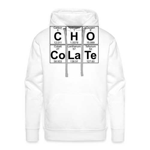 C-H-O-Co-La-Te (chocolate) - Full - Men's Premium Hoodie