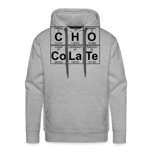 C-H-O-Co-La-Te (chocolate) - Full - Men's Premium Hoodie
