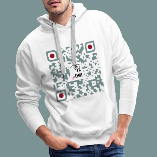 pEMIEL QR - Mannen Premium hoodie
