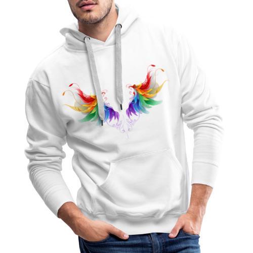 Ailes d'Archanges aux belles couleurs vives - Sweat-shirt à capuche Premium pour hommes