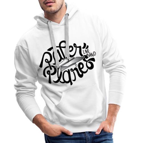 Paper PlanesLogo Zwart - Mannen Premium hoodie