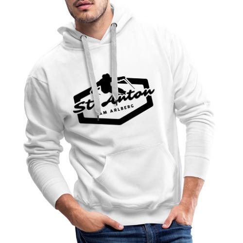 Skiing St. Anton Emblem - Mannen Premium hoodie