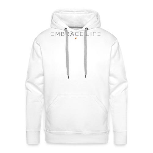 embrace life print - Men's Premium Hoodie