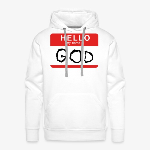 My name is GOD - Premiumluvtröja herr