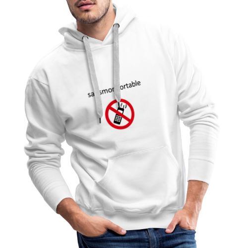 Sans mon portable n°1 - Sweat-shirt à capuche Premium pour hommes