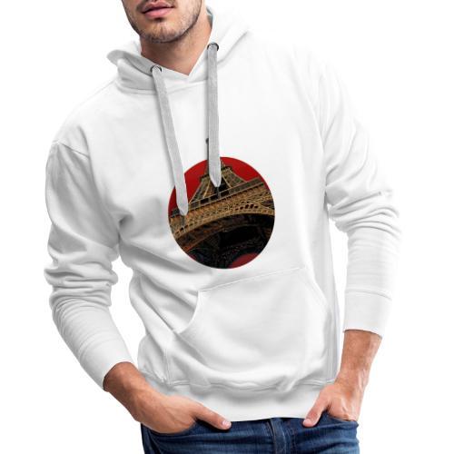 Tower circle red - Sweat-shirt à capuche Premium pour hommes
