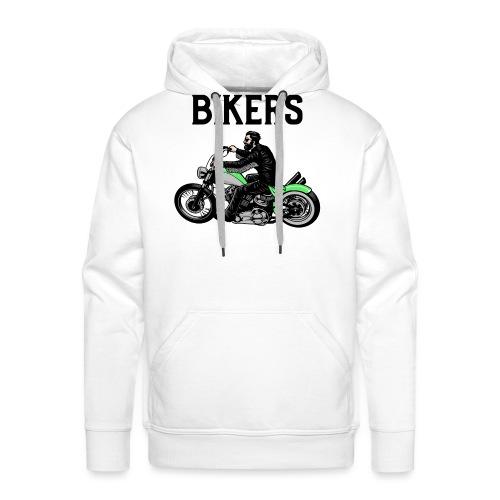 Green bikers - Sweat-shirt à capuche Premium pour hommes