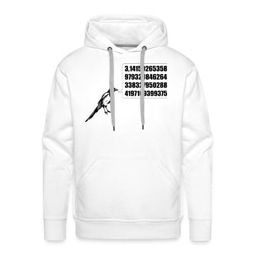 La pie savante - noir - Sweat-shirt à capuche Premium pour hommes
