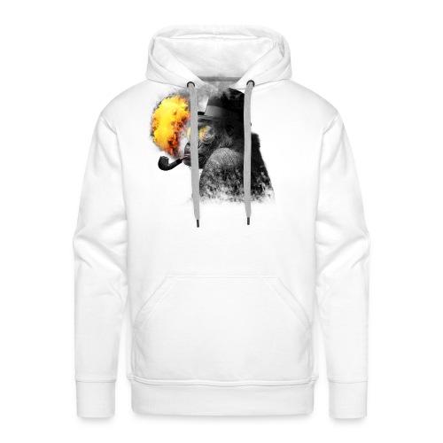 Rauchender Affe - Männer Premium Hoodie