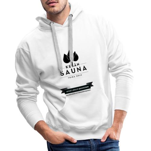 Kesän sauna - valkoinen - Miesten premium-huppari