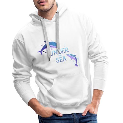 Under the Sea - Requin et dauphin - Sweat-shirt à capuche Premium pour hommes