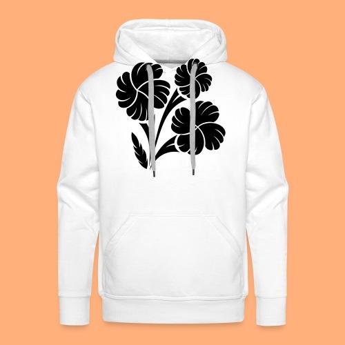 trio fleuri - Sweat-shirt à capuche Premium pour hommes
