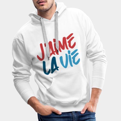 Ich liebe das Leben - Sweat-shirt à capuche Premium pour hommes