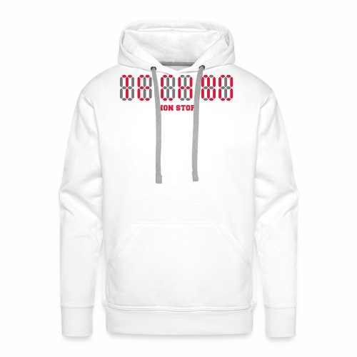 Techno Non Stop Digital Uhr - all night all day - Männer Premium Hoodie