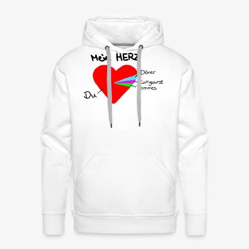 Herz Tortendiagramm 3 - Männer Premium Hoodie
