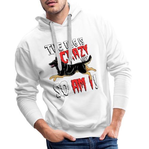 German Shepherd Crazy 4 - Miesten premium-huppari
