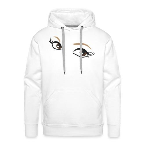 oczy - Bluza męska Premium z kapturem